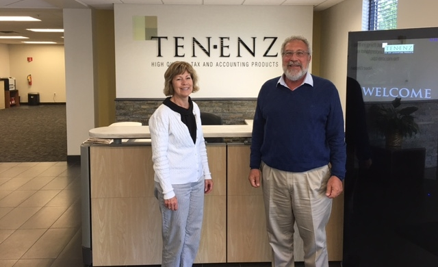 Executive Director, Linda Wiza, with Tenenz owner, Bob Tenner, at the   Tenenz, Inc.   headquarters in Bloomington, MN.