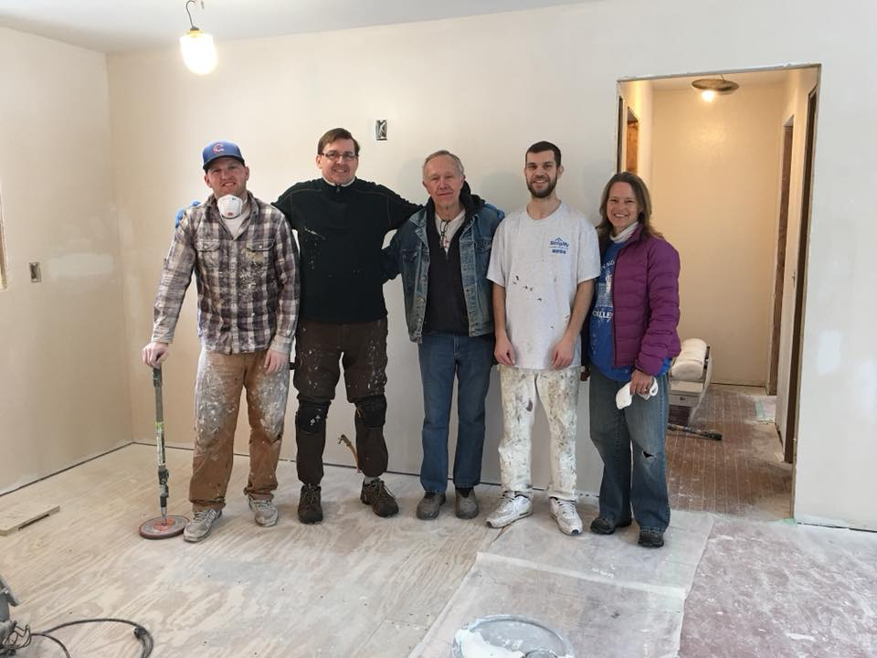 Magic Painting Co. (pictured with long-time TDP volunteer, Paul Leverentz: center) painted Esther's Place for us. Huge help! www.magicpainting.com.
