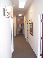 Dallas Matlock Medical Suite Hallway Tall Ceilings