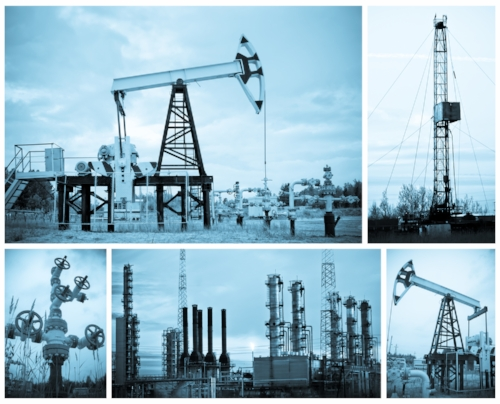 Collage of Oil Rigs