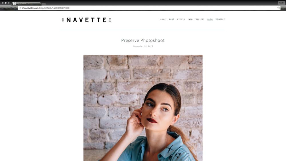 Preserve Photoshoot for Navette