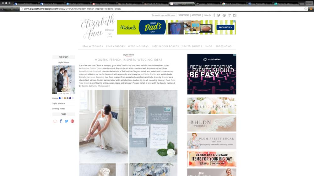 Elizabeth Anne Designs Feature
