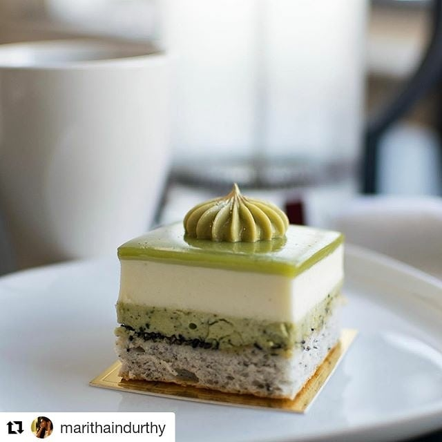 #Repost @marithaindurthy (@get_repost) ・・・ A friend introduced me to @lavandepatisserie - the closest thing to a French cafe or pastry shop I've seen in MD. The desserts are stunning, including this matcha/yuzu number I brought home for later.