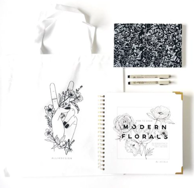 HOW TO DRAW MODERN FLORALS   FT. ALLI K DESIGNS  SATURDAY OCTOBER 6TH 2:00PM
