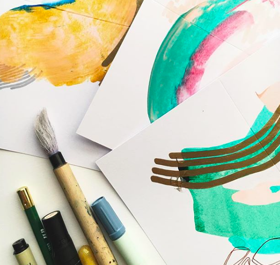 ABSTRACT WATERCOLOR THERAPY WORKSHOP   FT. STEPH RENEA  SATURDAY OCTOBER 2OTH 12:00PM