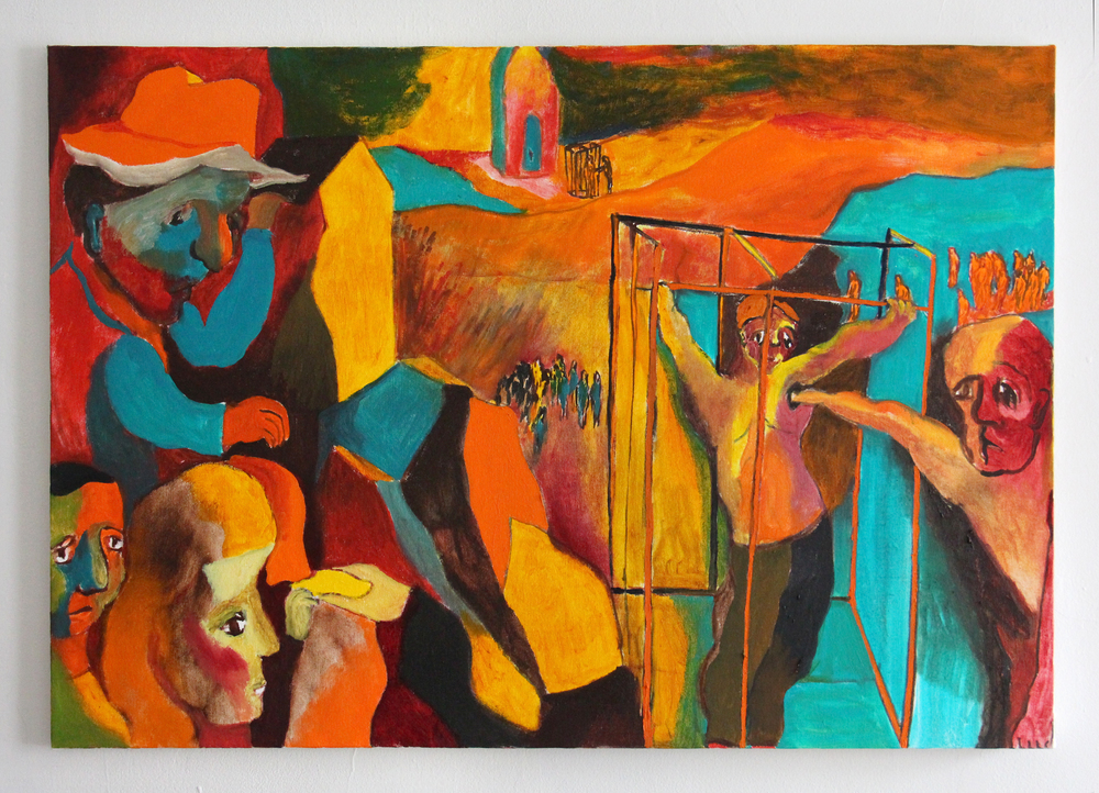 Extracting , Oil on Canvas, 28 x 40 inches, 2014