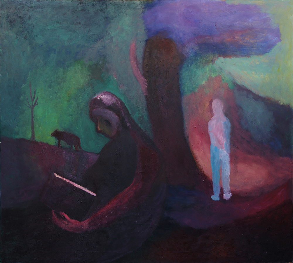 "At Separation , Oil on Canvas, 62""X56"", 2008-10"
