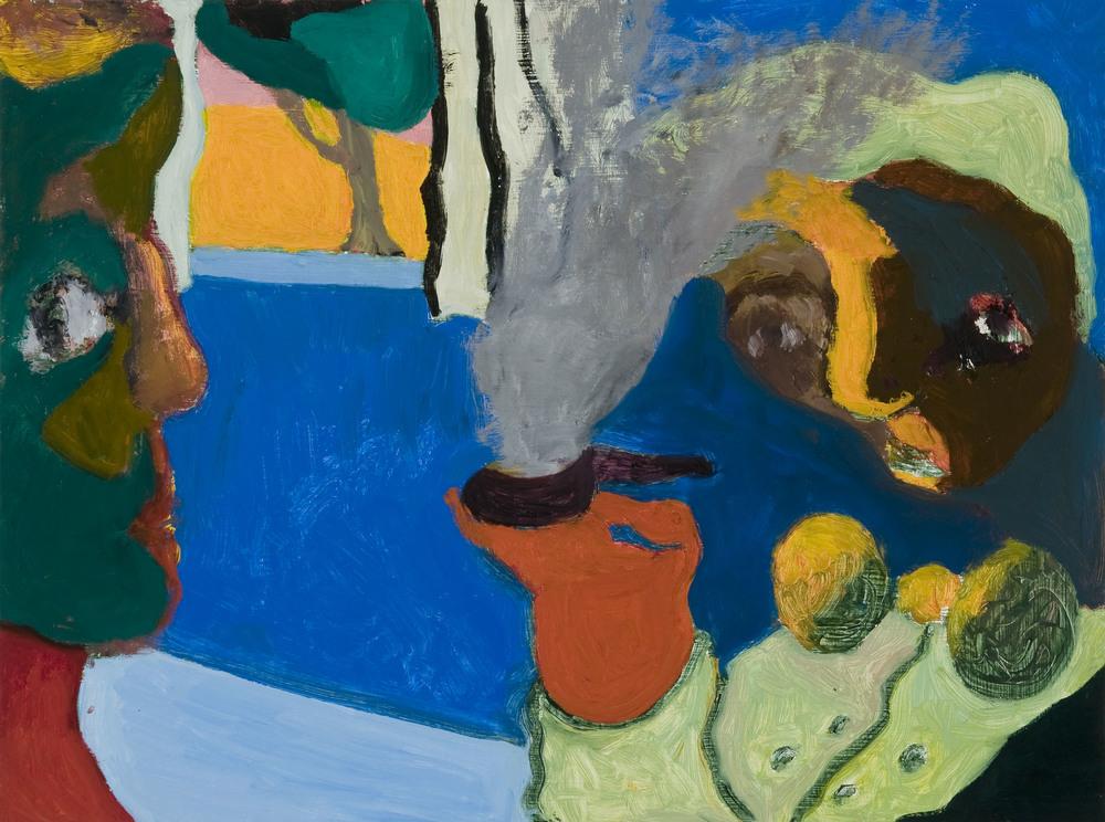 "Having a Smoke , Oil on Wood, 16 X 20"",2013"