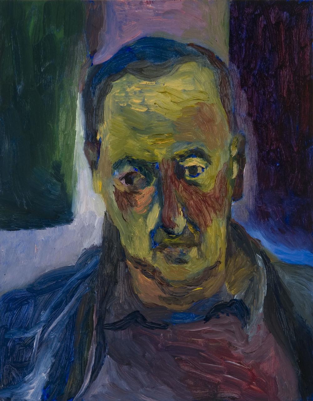 """Hovav , Oil on Wood, 14""""X11"""", 2013"""