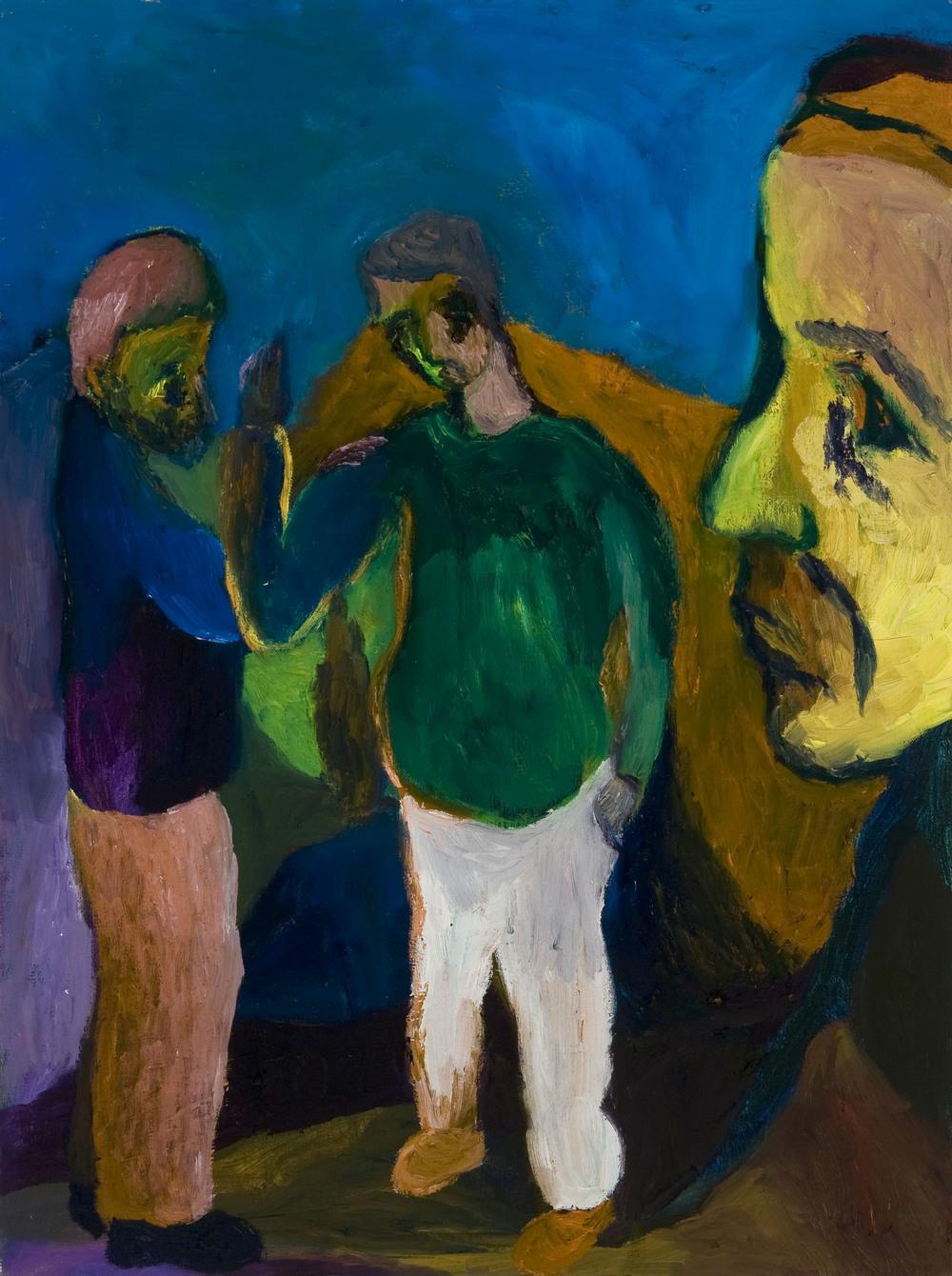 "Yaron, Dov & Hovav , 24""X18"", Oil on Canvas, 2012"