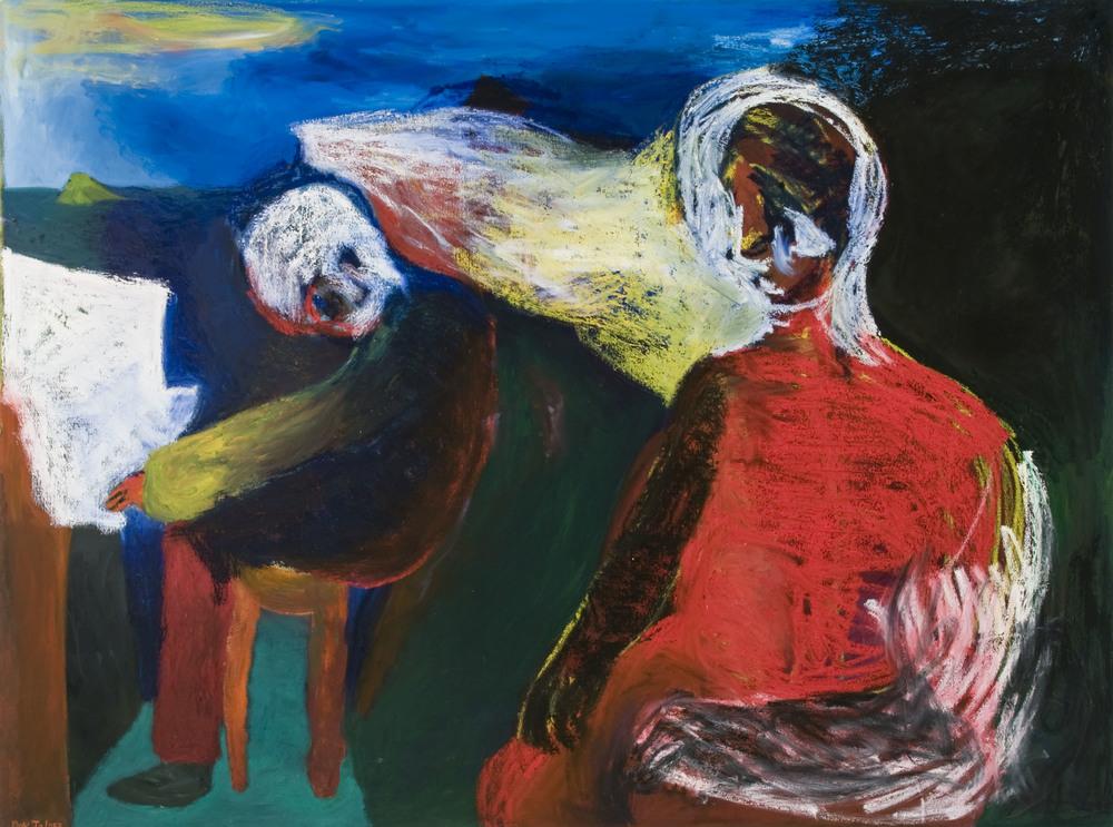 """Piano Lesson , 64""""X72"""", Oil on Canvas, 2012"""