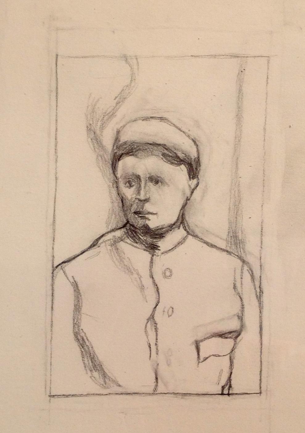 "Hanoch, Pencil on Paper,8.25x6.25"",2014"