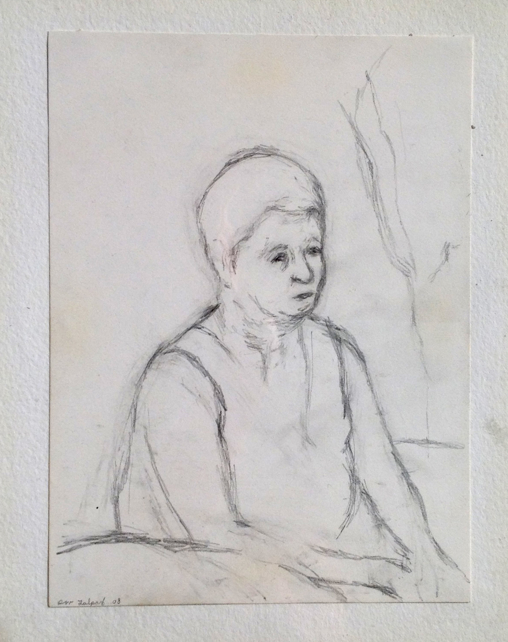 "Nechama II, Pencil on Paper, 8.5x6"",2008"