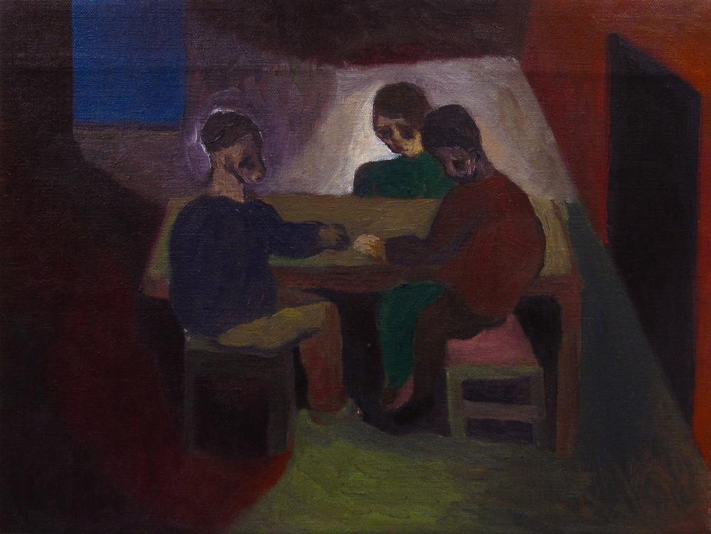 """Me & Parents , 12""""X16"""", Oil on Canvas, 2012"""