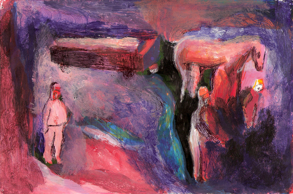 The Funeral, 6''x9'', Mixed Media on Paper, 2012.jpg