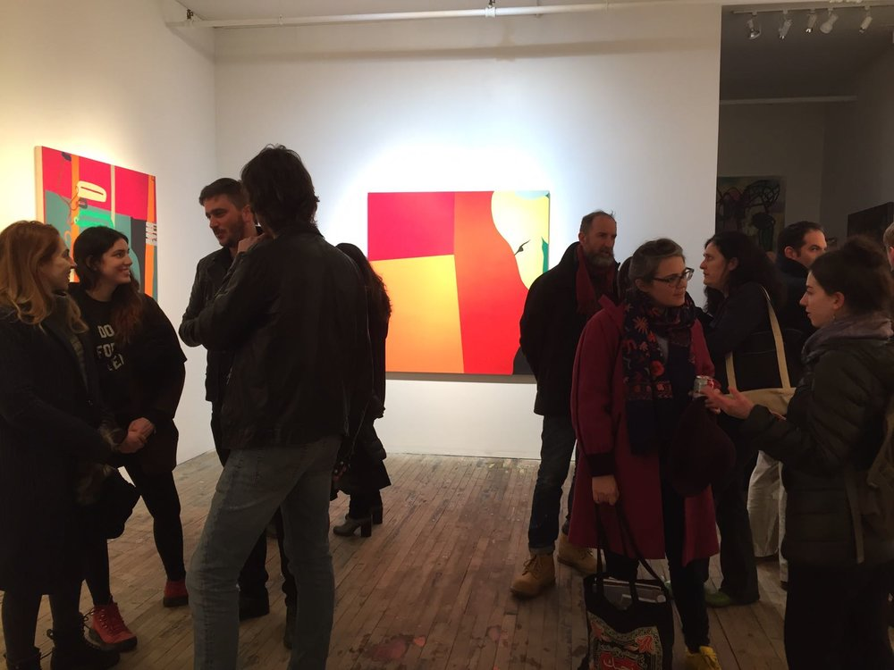 Breathing / Opening Night  Slag Gallery, Brooklyn February - March 2017