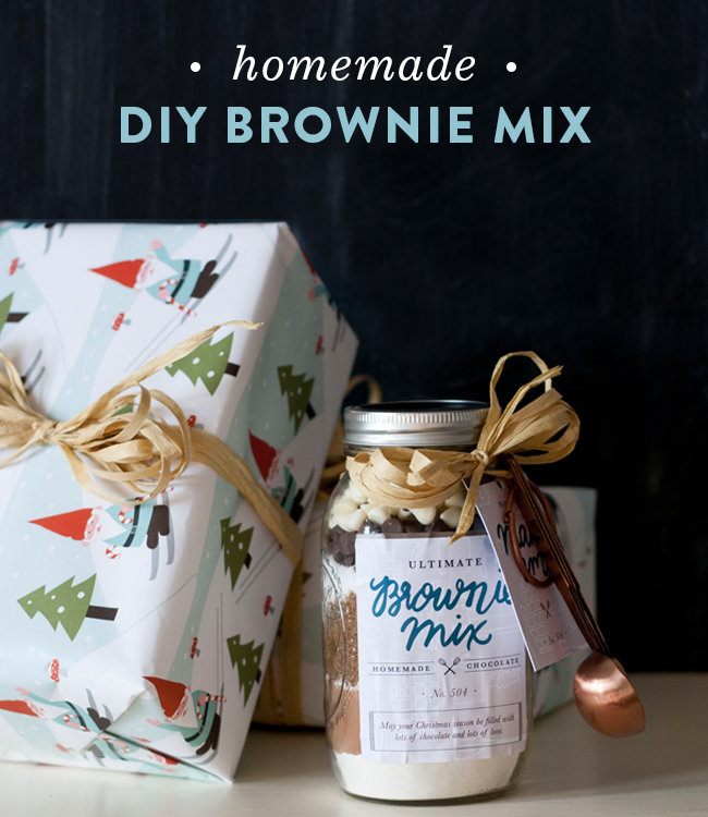 DIY Brownie Mix Mason Jars | Spruce Rd.