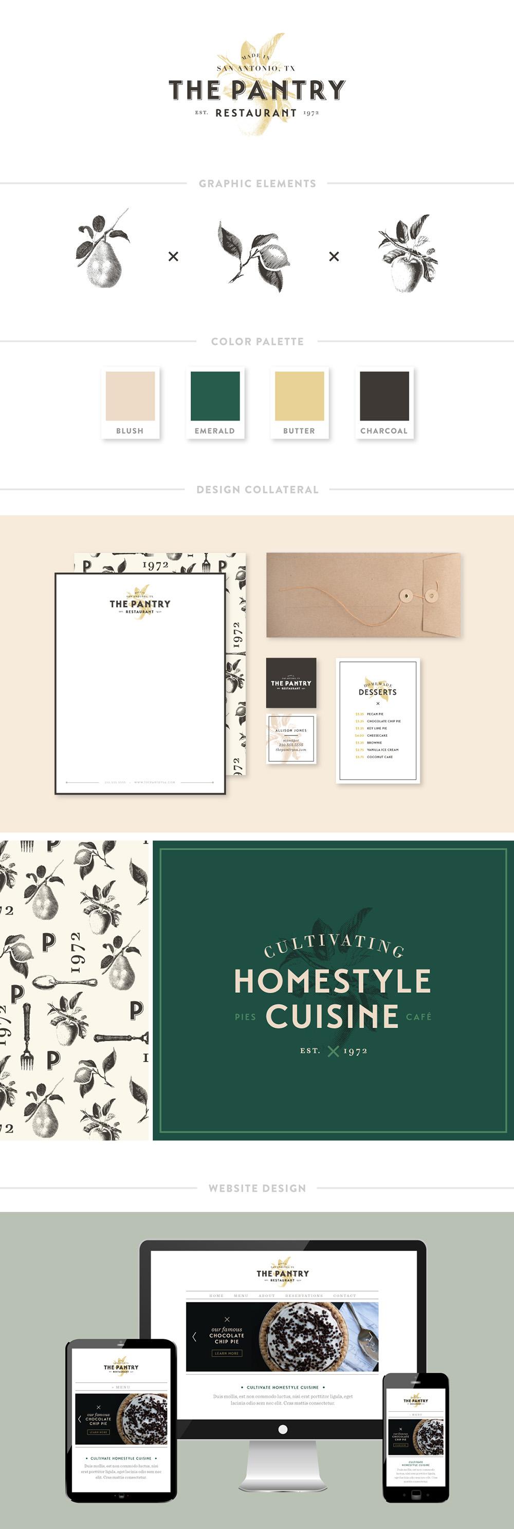 The Pantry Restaurant Branding | Spruce Rd. #branding #restaurant #restaurantbranding #webdesign #logo #identity