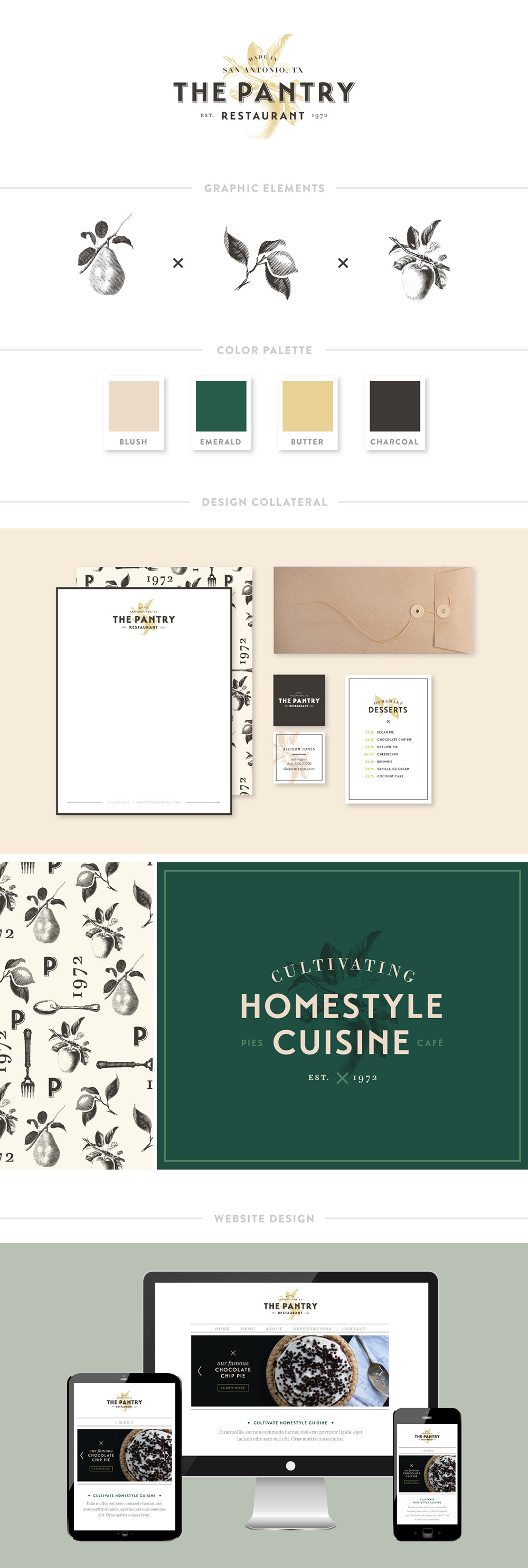 Portfolio The Pantry Branding Spruce Rd