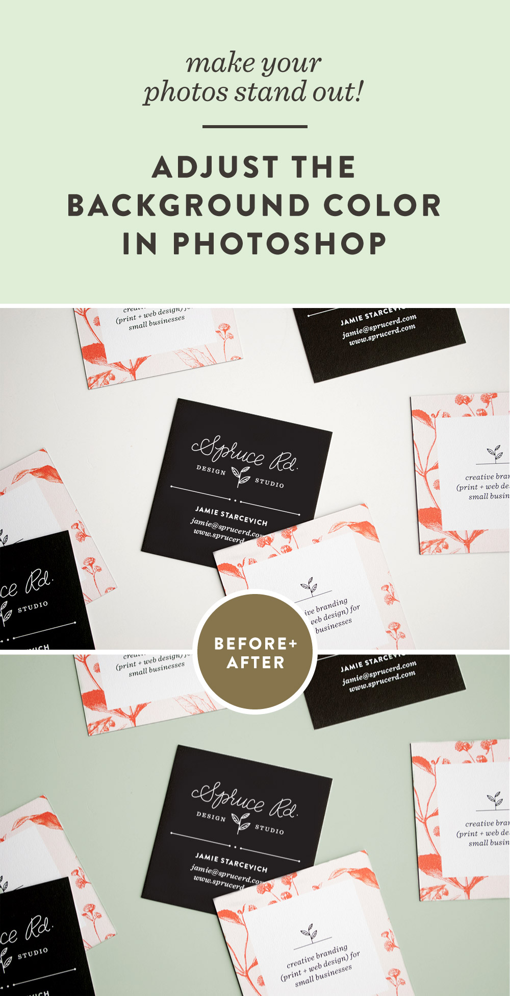One easy step to make your photos stand out | Spruce Rd. #freelance #design #designresource