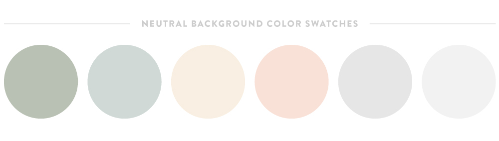 Neutral Background Swatches | Spruce Rd.