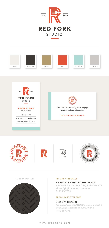 Red Fork Studio Brand Identity | Spruce Rd. #branding #logo #graphicdesign