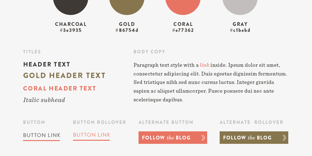 Web Design Style Guide | Spruce Rd. #webdesign