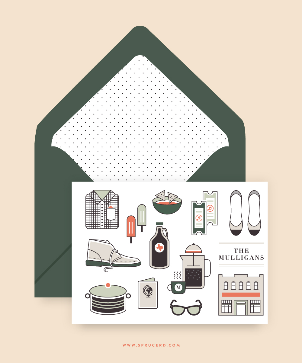 Wedding Stationery | Spruce Rd. #stationery #wedding #illustration