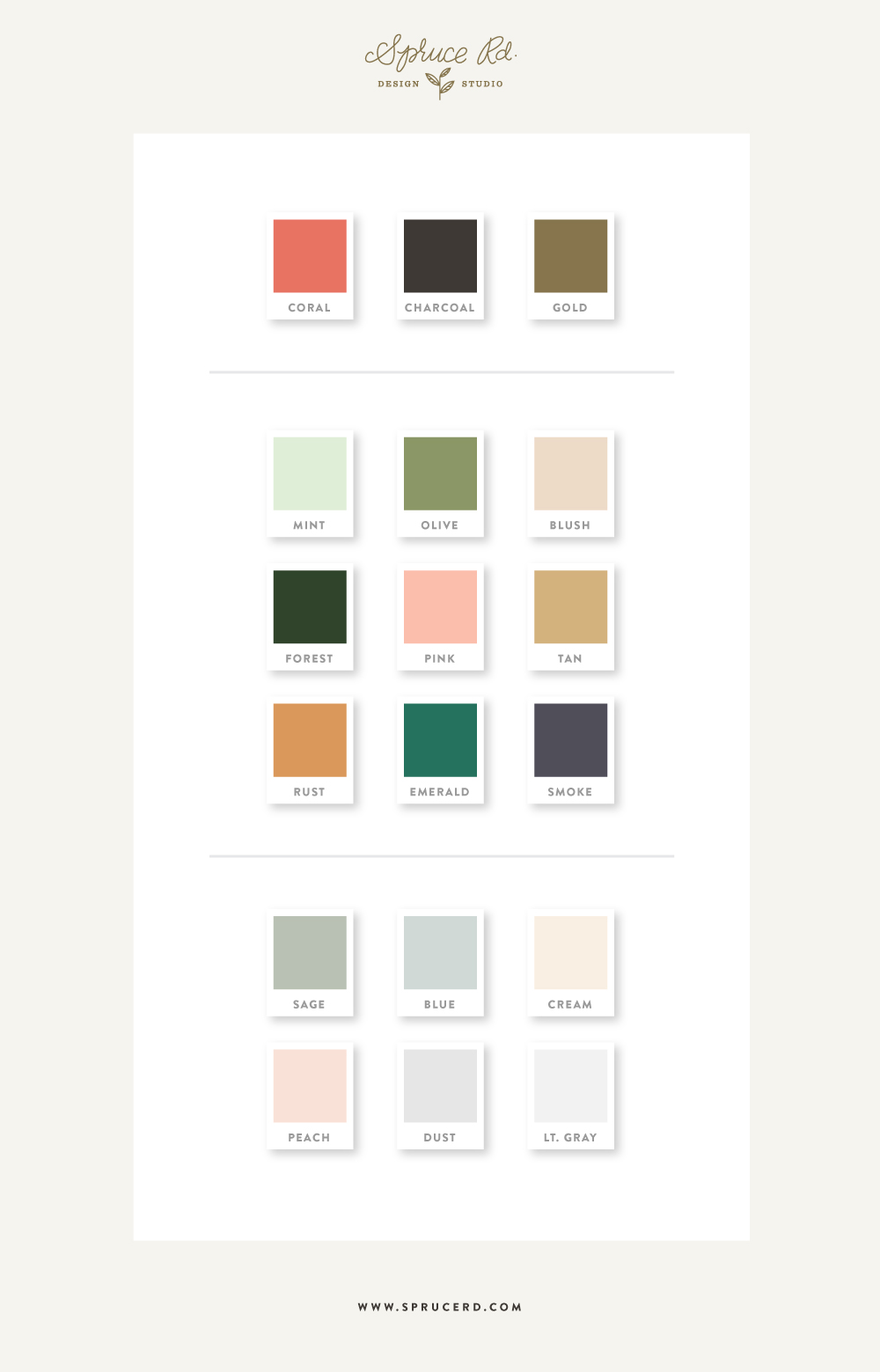 Spruce Rd. Color Palette | #color #inspiration