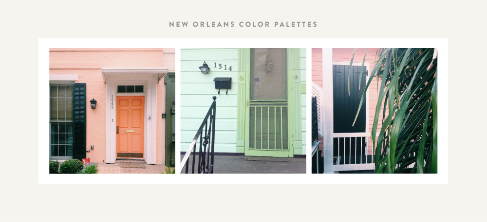 New Orleans Color Palettes | Spruce Rd. #color #inspiration