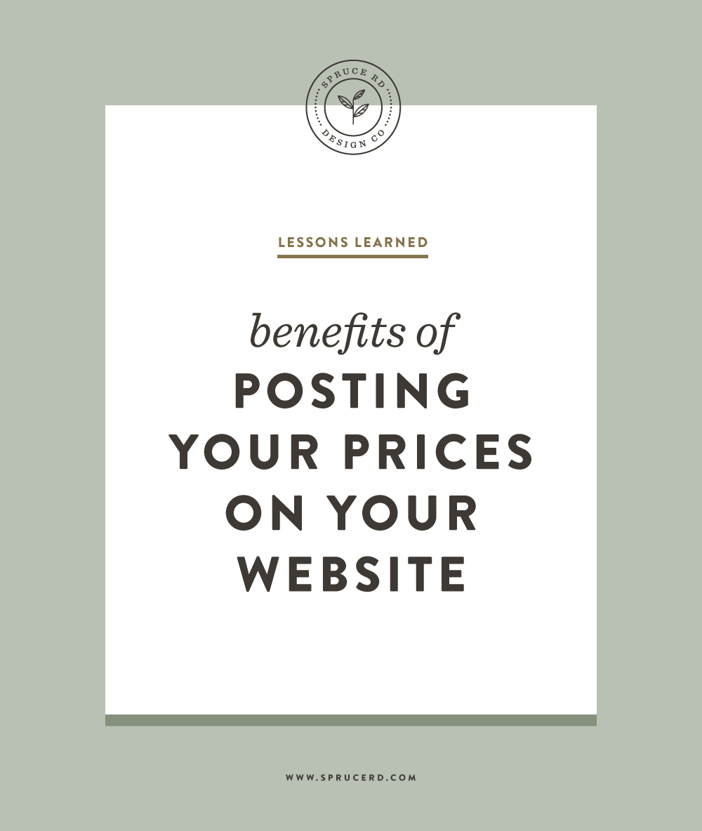 Benefits of Posting Your Prices on Your Website | Spruce Rd. #pricing #graphicdesign #freelance