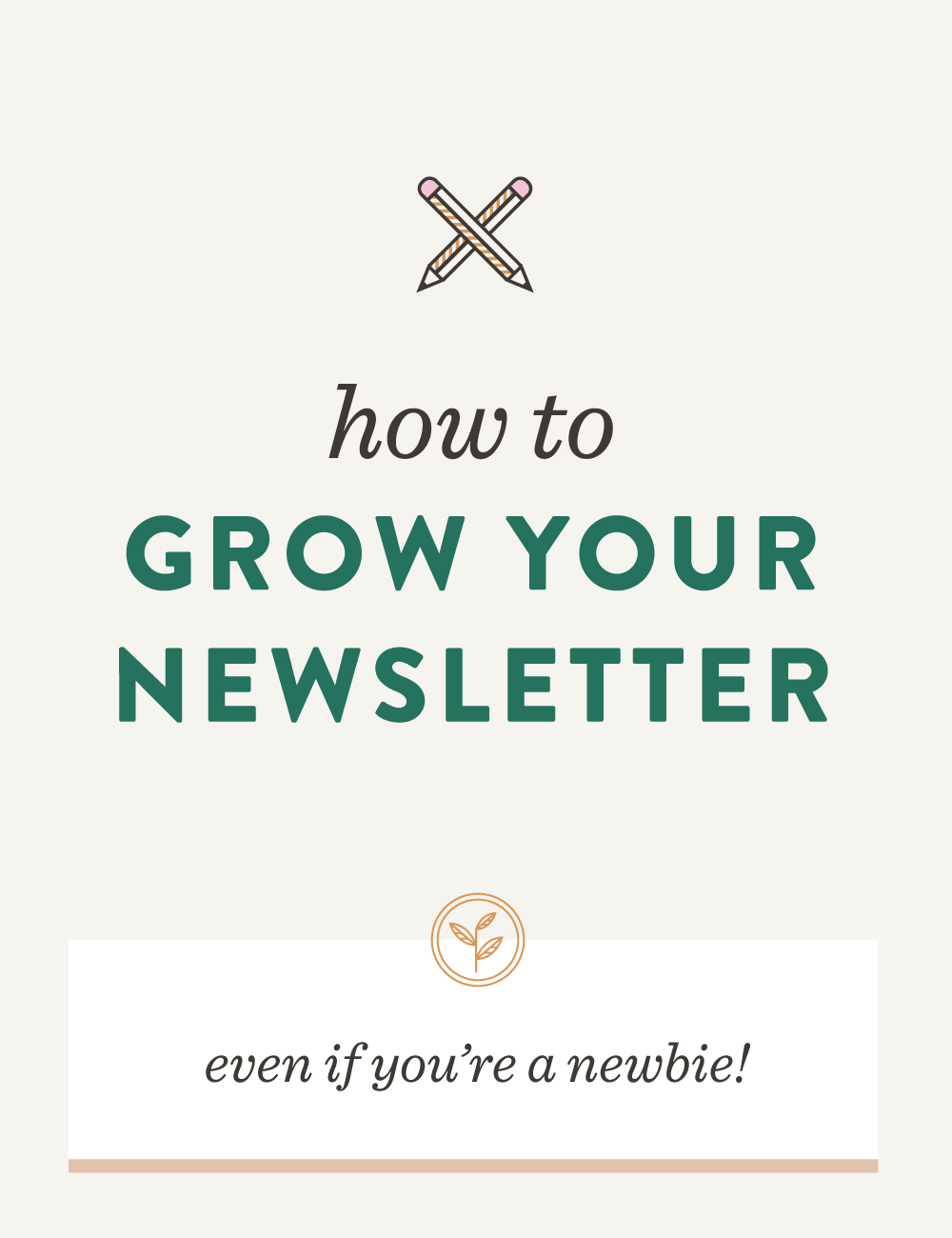 How to grow your newsletter, even if you're a newbie! // Curious on how to start growing your newsletter and build your audience in a non-salesy way? I'm sharing my secrets on growing your newsletter list in an authentic and intentional way.