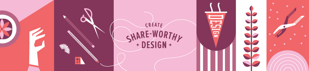 Create Share-worthy Design Course | Spruce Rd. | a step-by-step graphic design course teaching the ins + outs of branding for infopreneurs, ecourses, bloggers or freelancers. This e-course allows you to feel confident in your branding + course launches!