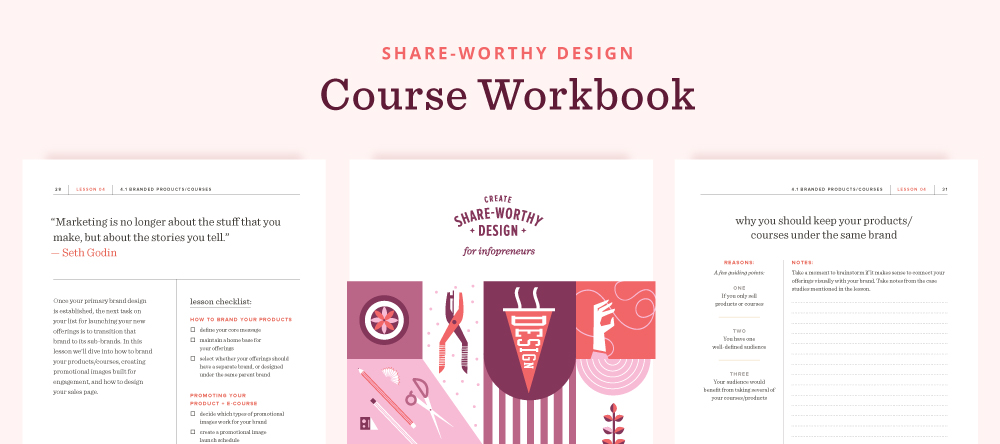 How I designed + created my e-course | Spruce Rd. Sharing the valuable resources and tools that I used to design my e-course. Everything from which platform to use, designing the logo and promoting the course.