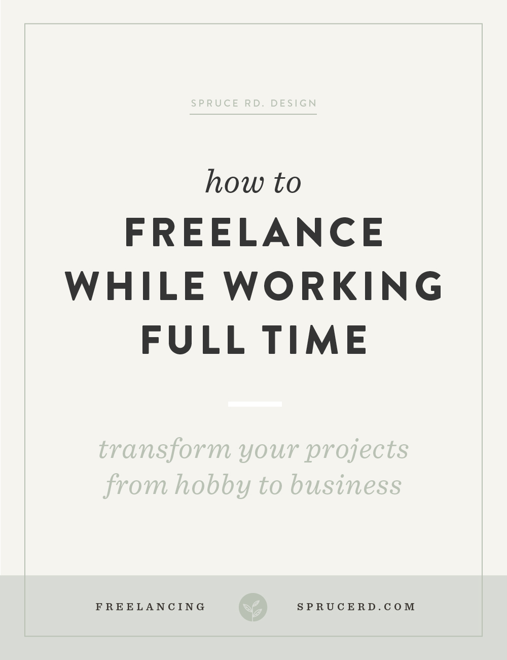 "How to freelance while working full time | Spruce Rd. | $50 logos. Endless revisions. ""Nightmare"" clients. I've experienced it all while freelancing on the side. I'm sharing a few tips I learned along the way on how to treat your side freelance projects as a business, not a hobby."