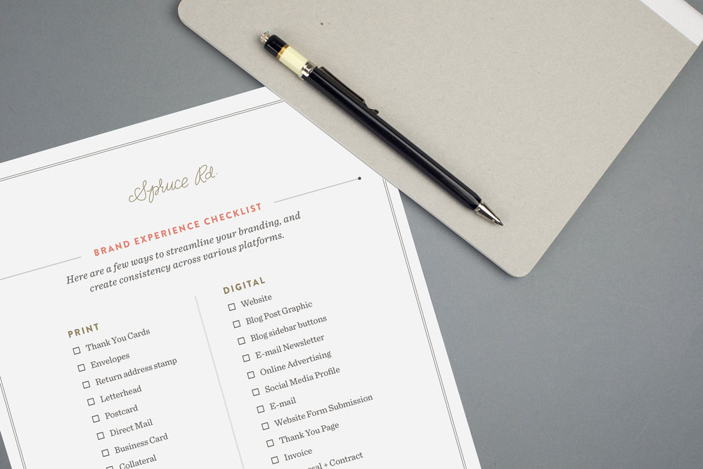 Spruce Rd. Brand Experience Checklist
