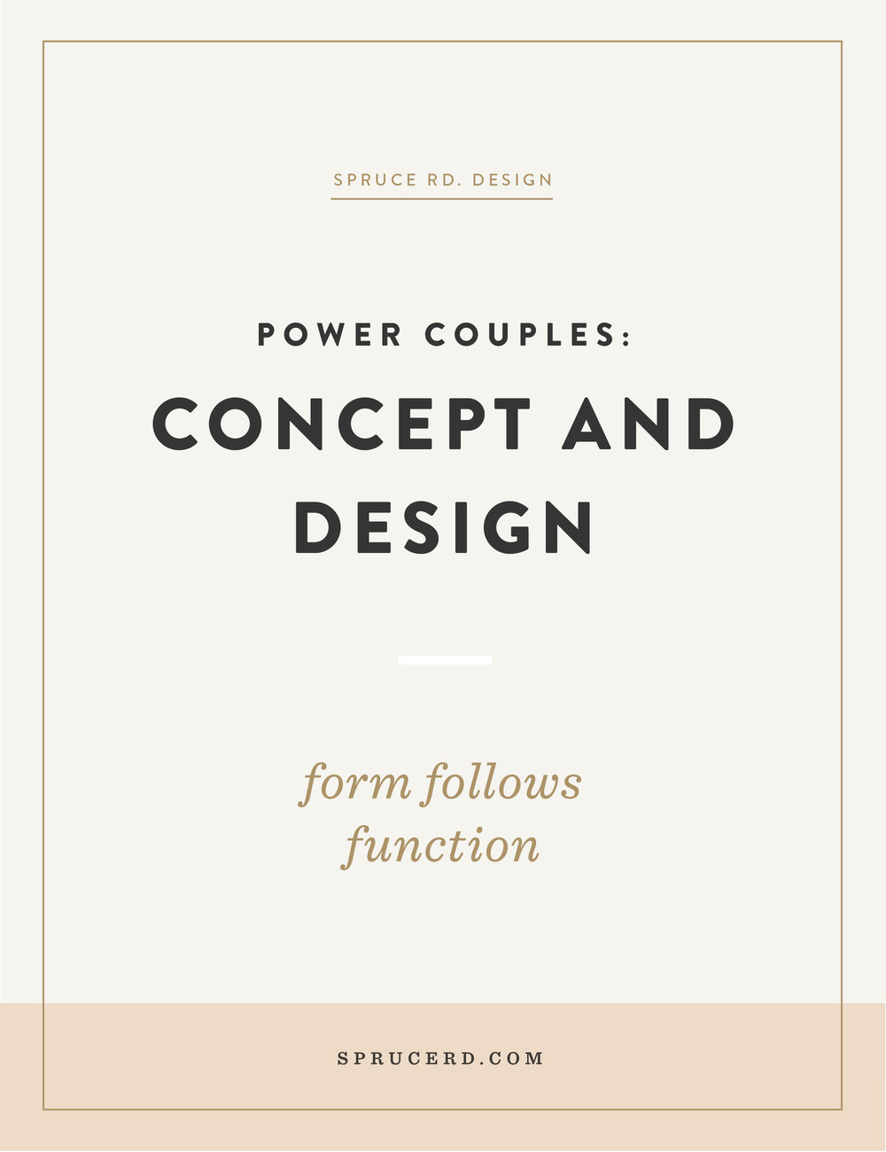 "Designing a brand can be overwhelming. Where do you even start?! In this post I'm sharing all about my fav. ""power couple"": Concept and design."