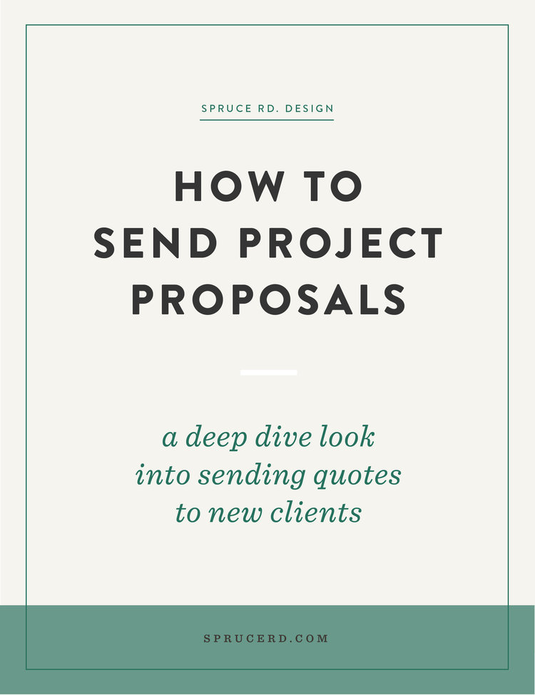 How We Handle Sending Proposals  Spruce Rd