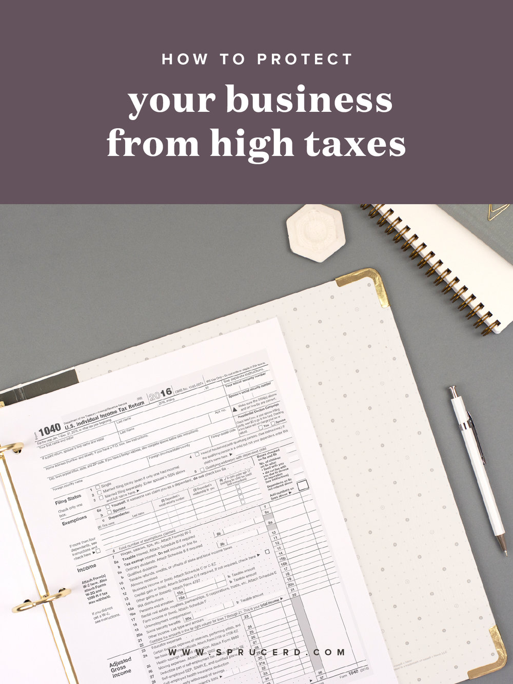 How to protect your business from high taxes | Spruce Rd. | Whew. Tax season, amiright!? Not going to lie, each quarter/year I stress a bit about what scary number is going to pop up that I owe. I'm sharing a few ways I'm protecting my business this year from high taxes.