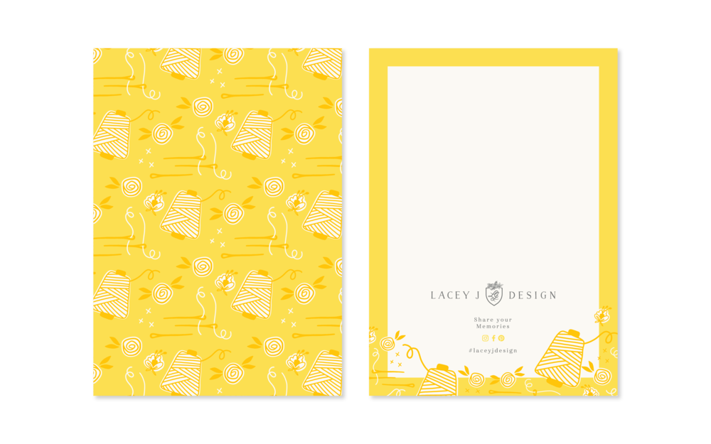Lacey J Design - notecard design