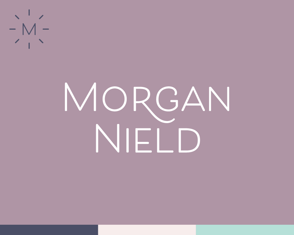 Morgan Nield Brand identity, icon design, blog post template, PDF workbooks, webinar slide template view project