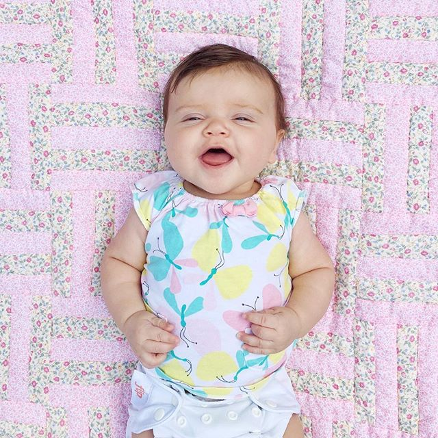Twelve weeks with sweet Zelie girl 💕 She's pretty much always this happy and we're pretty much 1000% smitten!