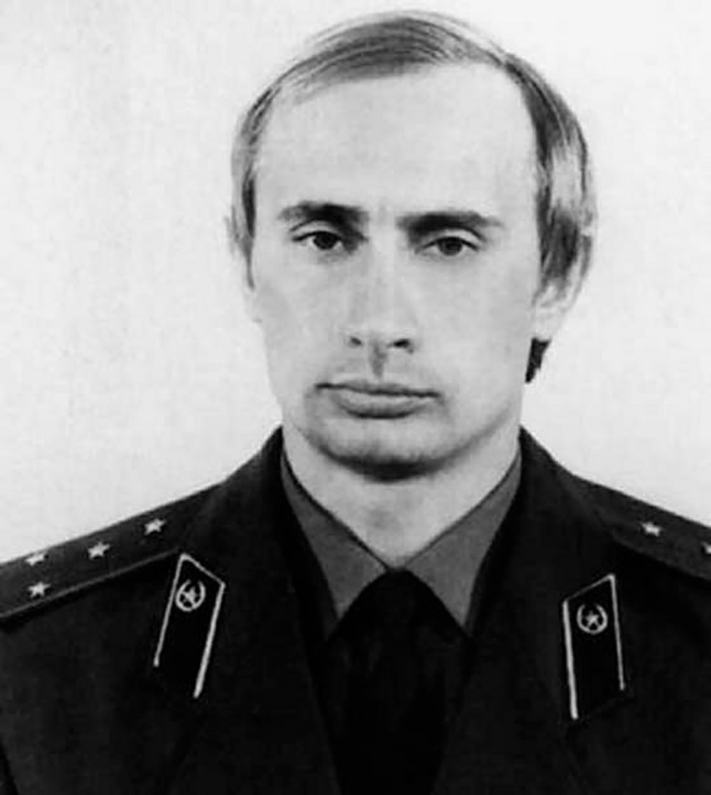A picture of President Trump's buddy Vladimir Putin as a young KGB officer.  Guess who's winning the cyber war?