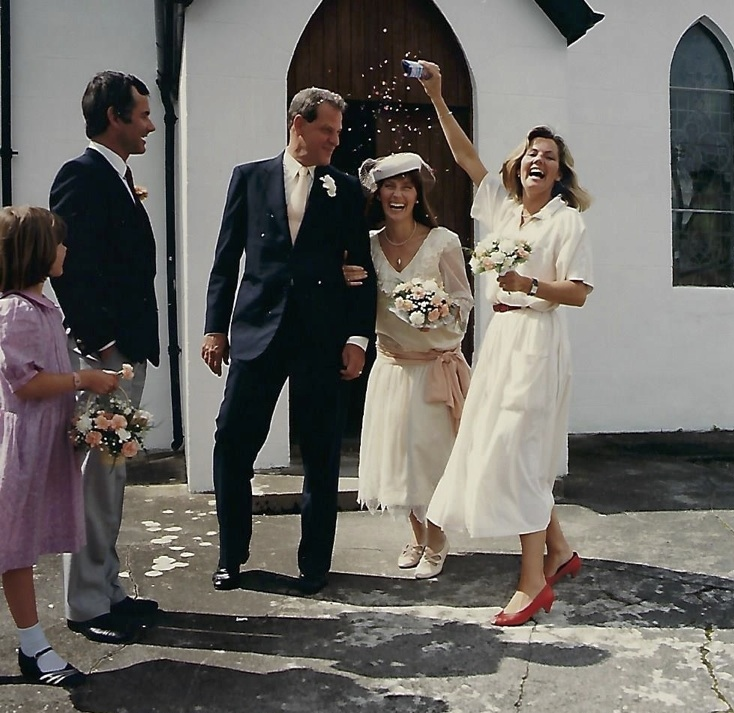 Shown here (center) on her wedding day, Sligo, Ireland, August 12, 1985.