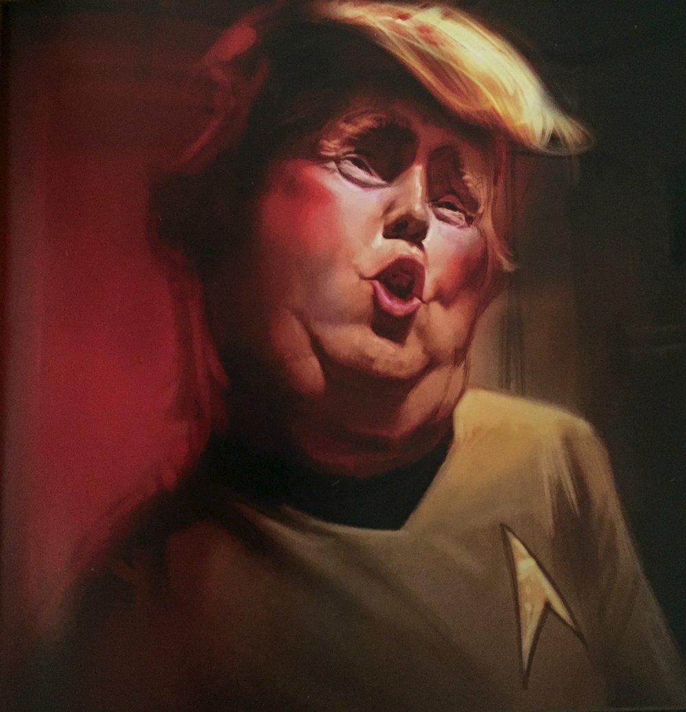 "Artwork: ""Captain Donald T. Jerk"" by Chris Sears, chris.sears.art@gmail.com."