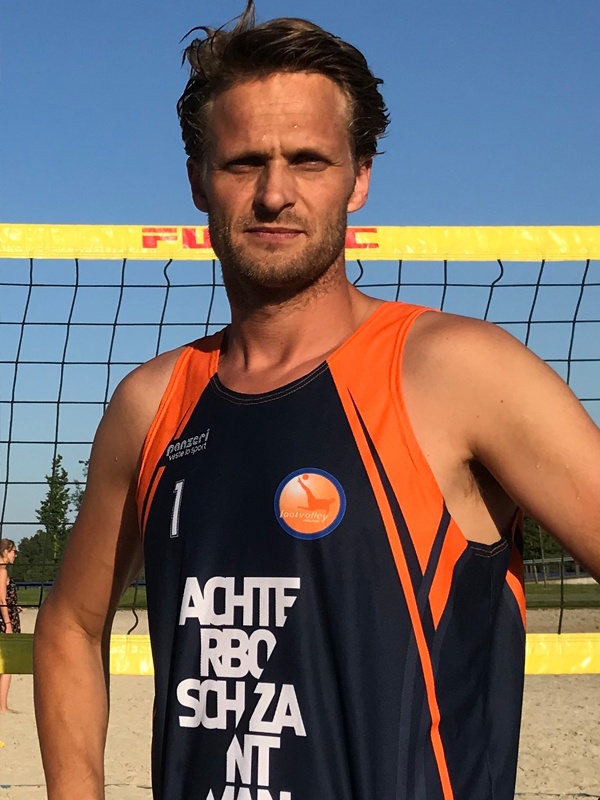 Footvolley player Bart Zantman representing Netherlands