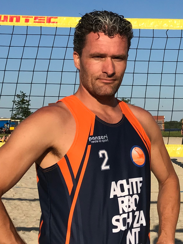 Footvolley player Martijn ten Duis representing Netherlands
