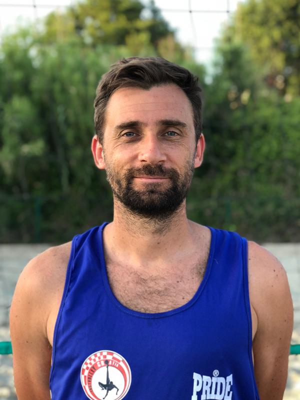 Footvolley player Ivan Maksic representing Croatia