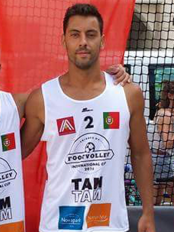 Footvolley player José Correia representing Portugal