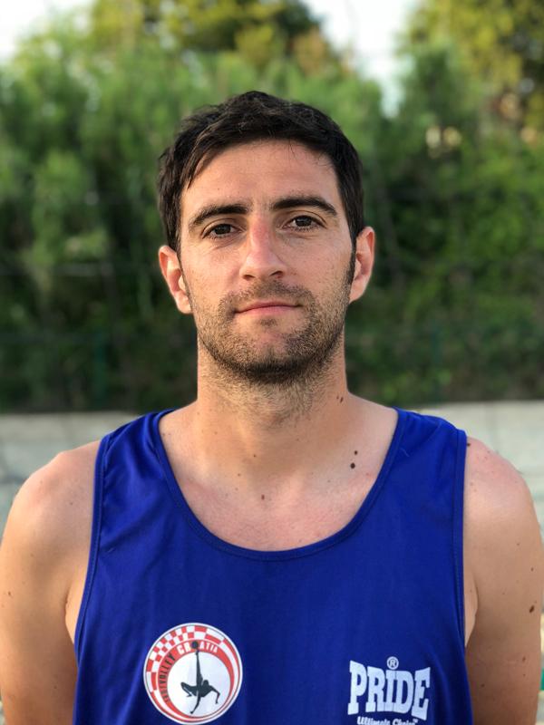 Footvolley player Dinko Maras representing Croatia